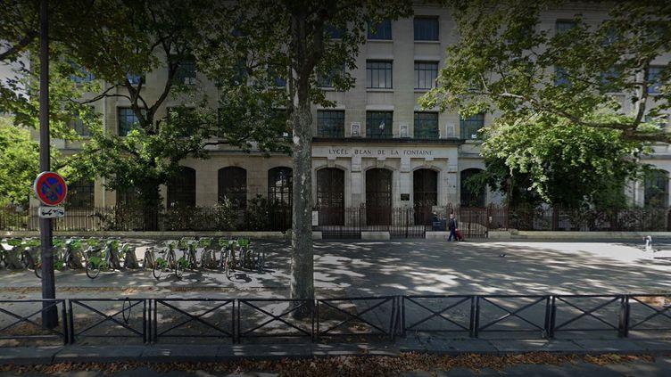 Le lycée Jean de La Fontaine, dans le 16e arrondissement de Paris. (GOOGLE STREET VIEW)