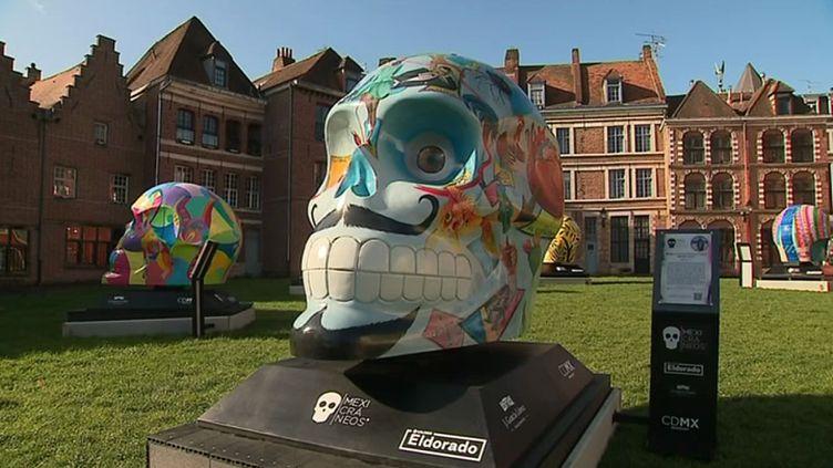 Les crânes géants du collectif d'artistesMexicraneos. (S. Gurak / France 3)