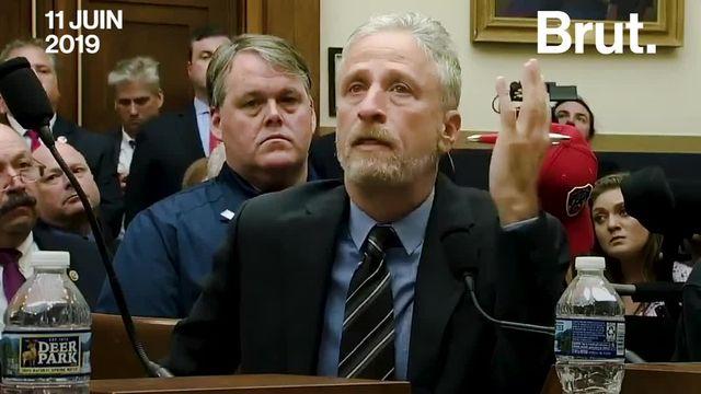 Le 11 juin, au Congrès américain, l'ancien présentateur du Daily Show Jon Stewart est venu apporter son soutien aux secouristes du 11-Septembre qui ont payé le prix fort de leur intervention.