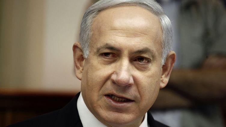 Le Premier ministre Benyamin Netanyahu dans son bureau, à Jérusalem (Israël), le 7 mai 2012. (GALI TIBBON / AFP)
