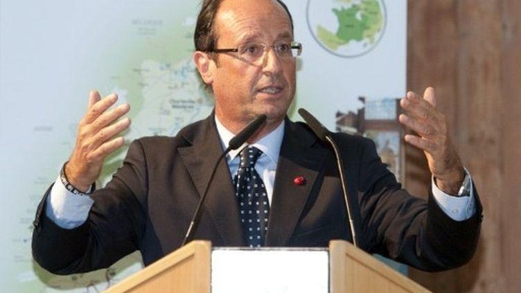 François Hollande reste le favori des sondages à quatre mois du scrutin (AFP - Miguel Medina)