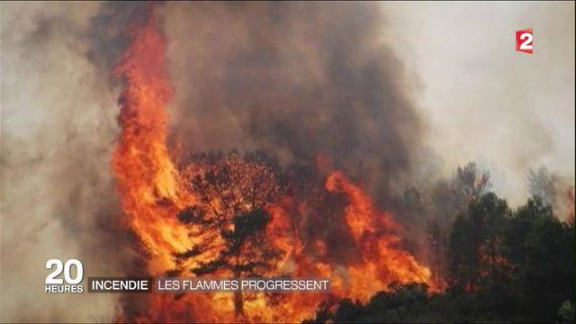 Incendies : les flammes progressent dans l'Aude