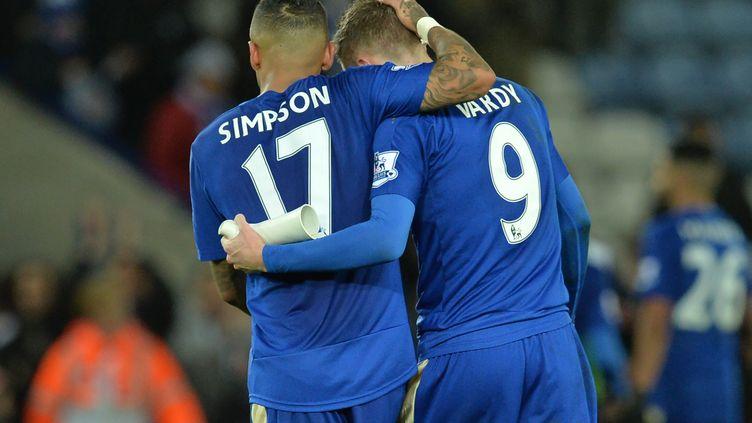 Face à Stoke City (3-0), Jamie Vardy, l'attaquant de Leicester, a inscrit son 16e but en Premier League.  (PAUL ELLIS / AFP)