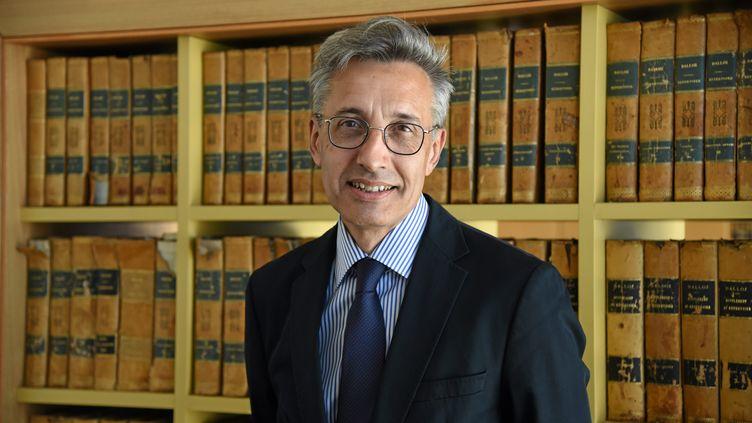 L'ancien doyen de la faculté de droit de Montpellier (Hérault), Philippe Pétel, le 24 mai 2017. (RICHARD DE HULLESSEN / MAXPPP)