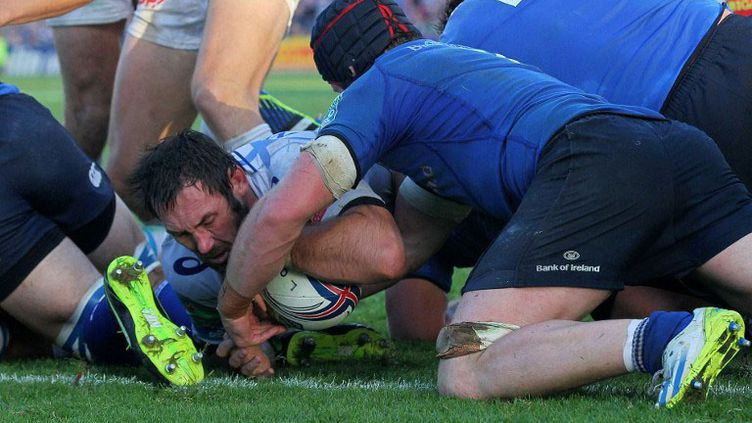 Le CO.Castres face au Leinster (PETER MUHLY / AFP)
