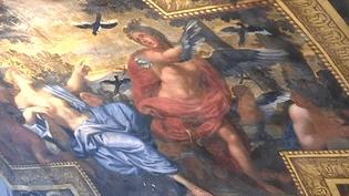 Les travaux de restauration du plafond de la chambre des Muses, peint par Charles Le Brun vont couter 450 000 euros, financés en totalité par un riche mécène américain.  (Culturebox / Capture d'écran)