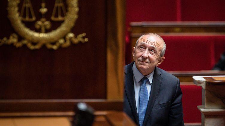 Le ministre de l'Intérieur, Gérard Collomb, le 25 septembre 2017 à l'Assemblée nationale. (MAXPPP)