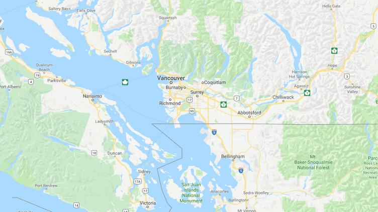 L'incident s'est produit à White Rock, ville canadiennefrontalièredes Etats-Unis. (GOOGLE MAPS)