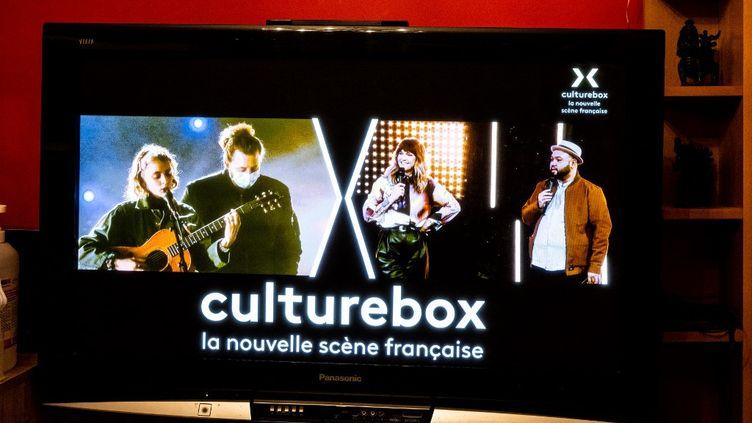 La chaîne Culturebox a été créée le 1er février 2021 pour soutenir le monde de la culture, qui souffre en raison de la pandémie. (SANDRINE MARTY / HANS LUCAS / AFP)