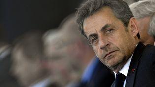 L'ancien chef de l'Etat, Nicolas Sarkozy, lors du 70e anniversaire du Débarquement allié, le 6 juin 2014 à Ouistreham (Calvados). (MAXPPP)