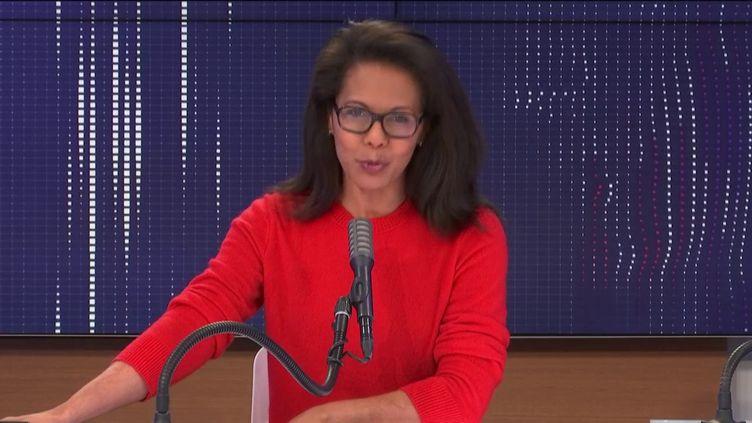 Audrey Pulvar, adjointe à la mairie de Paris, le 20 décembre 2020 sur franceinfo. (FRANCEINFO / RADIOFRANCE)