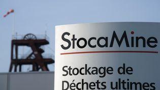 L'entrée de Stocamine à Wittelsheim (Haut-Rhin). (SEBASTIEN BOZON / AFP)