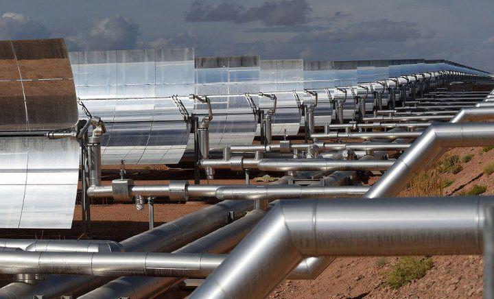 Noor, qui veut dire lumière, centrale solaire à concentration inaugurée dans le sud-marocain, le 4 février 2016. (AFP/ Fadel Senna)