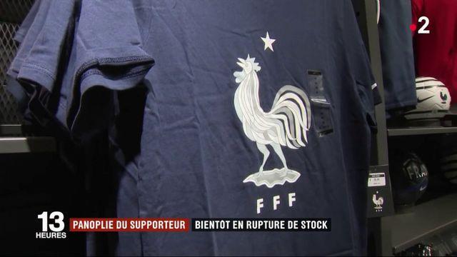 Panoplie du supporter : les maillots bientôt en rupture de stock