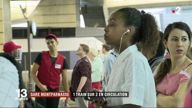 Gare Montparnasse : 1 train sur 2 en circulation, des passagers excédés