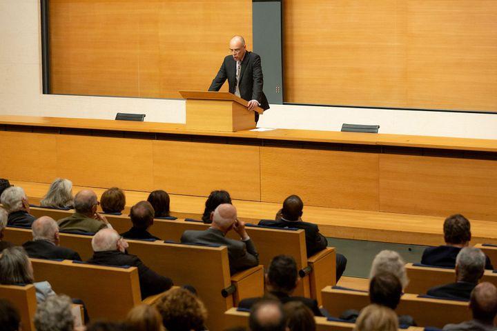 La leçon inaugurale de François-Xavier Fauvelle au Collège de France à Paris le 3 octobre 2019 (Collège de France - Patrick Imbert)