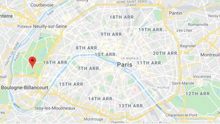 Le 16e arrondissement de Paris. (GOOGLE MAPS / FRANCEINFO)