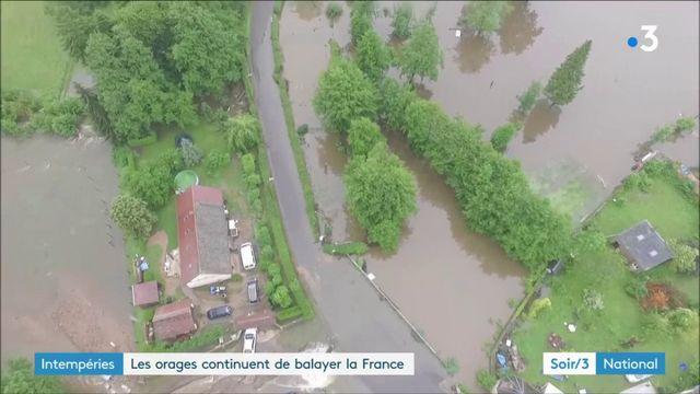 Les orages diluviens provoquent de fortes inondations