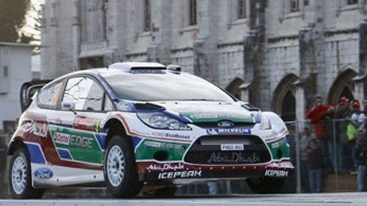 Mikko Hirvonen sur sa Ford Fiesta