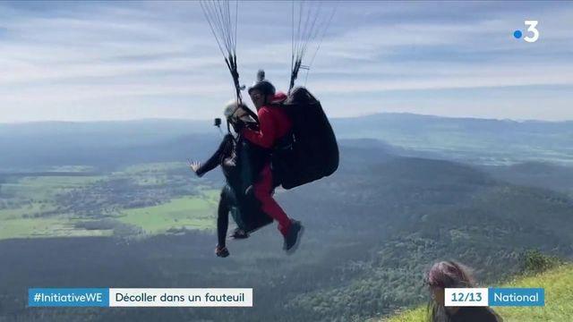 Handicap : des personnes en situation de handicap de l'Université Clermont-Auvergne découvrent le parapente.