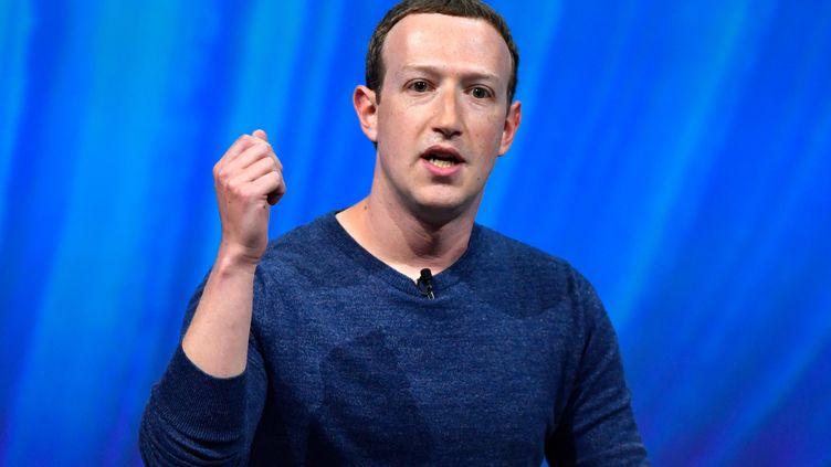 Mark Zuckerberg, PDG de Facebook, lors d'un discours à VivaTech, le 24 mai 2018, à Paris. (GERARD JULIEN / AFP)