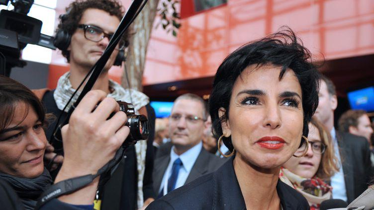 La mairie du 7e arrondissement de Paris et députée européenne Rachida Dati, le 14 octobre 2011, à Saint-Cyr-sur-Loire (Indre-et-Loire). (ALAIN JOCARD/AFP)