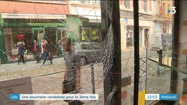 Lille : une boucherie vandalisée, des militants vegans soupçonnés