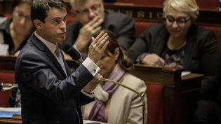 Manuel Valls, à l'Assemblée nationale, lemardi 15 décembre 2015. (YANN KORBI / CITIZENSIDE / AFP)