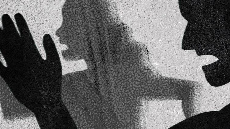 Illsutration d'une femme victime de violences conjugales. (FRANCEINFO)