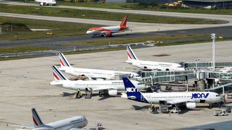 Des avions à l'aéroport Charles de Gaulle, le 27 juin 2019. (JOEL SAGET / AFP)