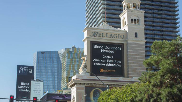 Les casinos deLas Vegas appellentaux dons du sang, mardi 3 octobre. (EMILY MOLLI / NURPHOTO / AFP)