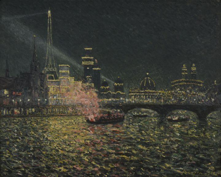 """Maxime Maufra, """"Féérie nocturne - Exposition Universelle 1900"""", 1900, Reims, Musée des Beaux-Arts (© Photo : C. Devleeschauwer)"""