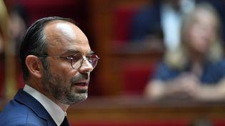 Le Premier ministre, Edouard Philippe, le 31 juillet 2018 à l'Assemblée nationale. (GERARD JULIEN / AFP)