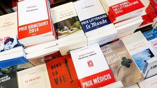 Ouvrages distingués par des prix littéraires exposés dans une librairie de l'Est parisien, (25 novembre 2014)...  (IP3 Press / MaxPPP)