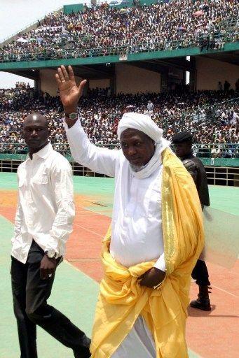 Mahmoud Dicko, le président du Haut Conseil islamique du Mali, le 12 août 2012 à Bamako. (AFP PHOTO / HABIBOU KOUYATE )