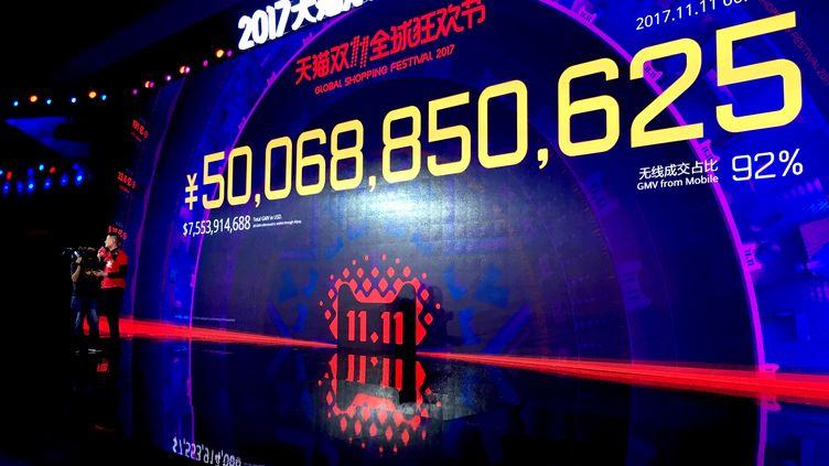 Lors de la soirée de soldes du géant du e-commerce Alibaba, 92% des achats se font via le téléphone mobile. (ANGÉLIQUE FORGET / RADIO FRANCE)