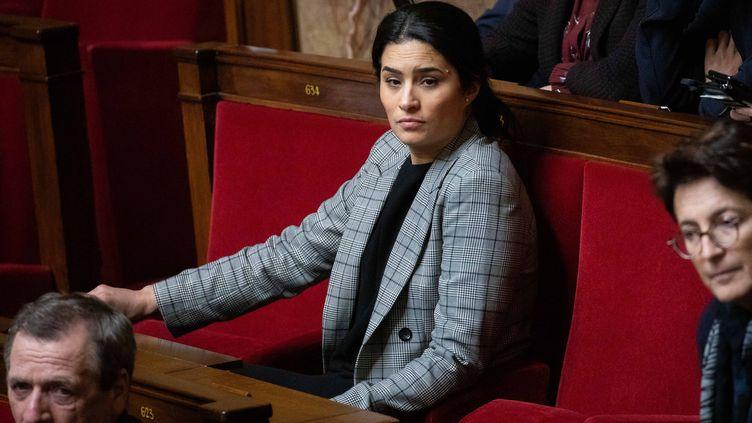 La députée LREM Sonia Krimi, lors d'une séance de questions au gouvernement à l'Assemblée nationale, à Paris, le 29 janvier 2019. (CHRISTOPHE MORIN / MAXPPP)