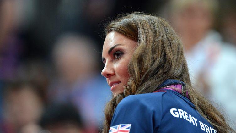 Catherine Middleton lors de la finale de la gymnastique, le 5 août aux JO de Londres. (BEN STANSALL / AFP)
