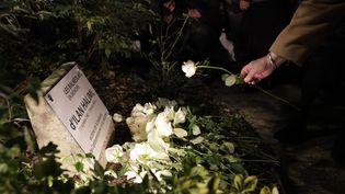 Un hommage est rendu à Ilan Halimi lors de la pose d'une plaque commémorative à Bagneux (Hauts-de-Seine), le 7 novembre 2017. (THOMAS SAMSON / AFP)