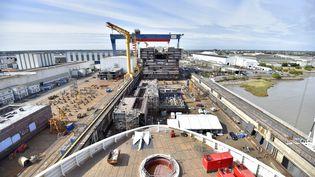 Les chantiers navals de Saint-Nazaire le 2 septembre 2016 (LOIC VENANCE / AFP)
