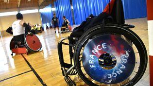 Stage de préparation de l'équipe de france paralympique de rugby-fauteuil (MAXPPP)