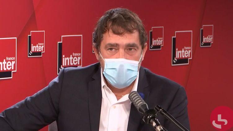 Christophe Castaner, président du groupe LREM à l'Assemblée nationale, sur France Inter le 10 novembre 2020. (FRANCEINTER / RADIOFRANCE)