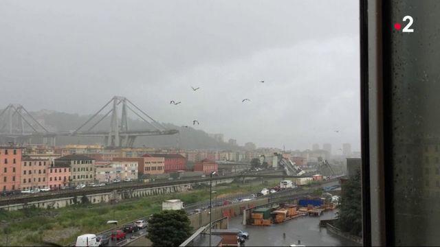 Italie :  un viaduc de l'autoroute A10 s'effondrev2