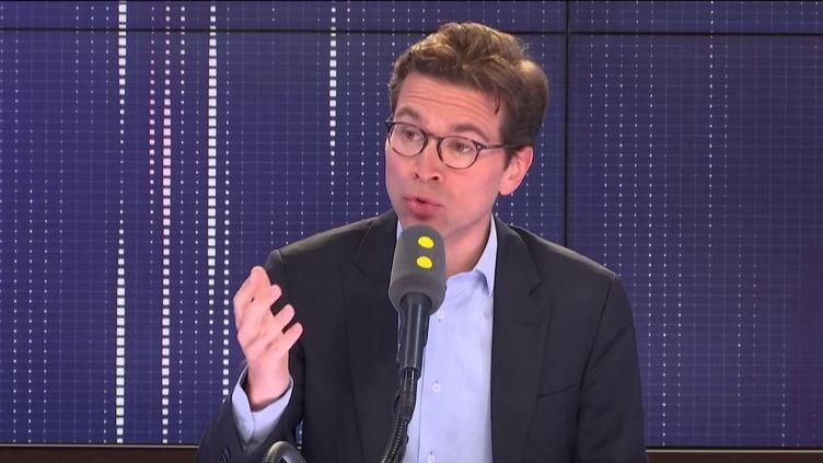 """Geoffroy Didier,député européen et vice-président LR de la région Île-de-France, invité du """"8h30 Fauvelle-Dély"""", lundi 10 juin 2019. (FRANCEINFO / RADIOFRANCE)"""