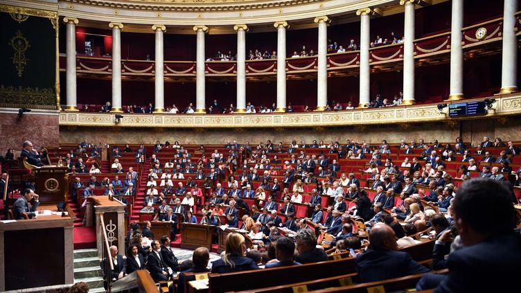 L'hémicycle de l'Assemblée nationale, à Paris, le 10 septembre 2019. (ERIC FEFERBERG / AFP)