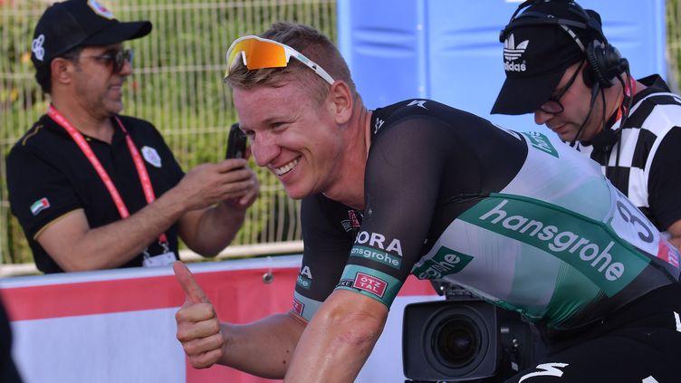 L'Allemand Pascal Ackermann tout sourire (GIUSEPPE CACACE / AFP)
