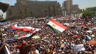 Les manifestants occupent la place Tahrir, épicentre de la contestation,  depuis le 8 juillet 2011. (AFP - Khaled Desouki)
