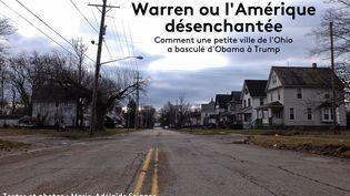 Une rue de Warren (Ohio, Etats-Unis), le 13 janvier 2017. (MARIE-ADELAIDE SCIGACZ / FRANCEINFO)