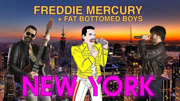 Le clip New York, Freddie Mercury en duo avec les Fat Bottomed boys (Fat Bottomed boys / Marialexie)