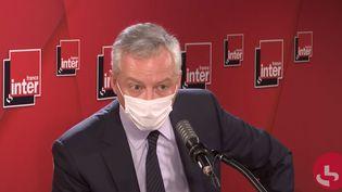Bruno Le Maire sur France Inter, le 11 janvier 2020. (FRANCEINTER / RADIOFRANCE)